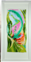fused glass picture, abstract