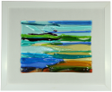 fused glass picture, fantasy landscape