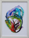 fused glass picture, fantasy sea life