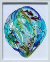fused glass picture, fantasy sealife