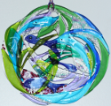fused glass wall hanging, fantasy sea life